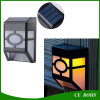 Dim Mode 10LEDs Retro White e Warm White PIR Sensor Solar LED Wall Path Lamp para parede de corredor de jardim
