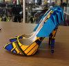 Neue westafrikanische gedruckte Gewebe-Form-Absatz-Schuhe (HCY02-186)