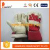Производство зерна кожаные рабочие перчатки DLP711
