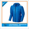 Men를 위한 스포츠 Hooded Quilted Blue Down Jacket
