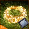 Indicatore luminoso leggiadramente esterno solare della stringa del patio di nuovo anno dell'indicatore luminoso di natale della stringa del collegare di rame LED della ghirlanda 10m per la cerimonia nuziale del giardino