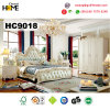 Base di legno della mobilia europea della camera da letto con cuoio (HC9018)