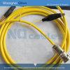 Enchufe masculino recto del conector BNC del RF (tres-quijada BNC-J4)