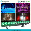 5in1 de LEIDENE DMX 12X25W Rgbaw Lineaire Lichte Wasmachine van de Muur