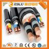 PVC moyen de faisceau de la tension 4 isolé et jupe avec le câble d'alimentation de cuivre de conducteur