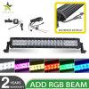 Offroad Aluminium die Draadloze LEIDENE van de Duim van de Controle RGB 5D 120W 22 Lichte Staaf huisvesten