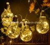 3 van het LEIDENE van aa de Batterij In werking gestelde Lichten van het Koord Duidelijke Koper van de Bol, 10 het LEIDENE van de Bol van Bollen Warme Witte Hangen van de Draad Licht voor de Partij van het Huwelijk van Halloween van Kerstmis