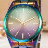 Relojes de encargo de la manera del reloj del cuarzo de las mujeres de la insignia para las señoras (WY-17003D)