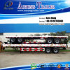 2車軸40ft Flatbed Container Semi Truck Trailer (LAT9350TJZG)