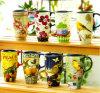 De Ceramische Mok van het Patroon van de bloem, de Mok van het Email, de Kop van China van het Been van de Gift van de Kop van de Koffie van het Porselein