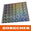 Étiquette adhésive holographique laser transparente