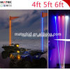1.2 / 1.5 / 1.8m RVB White Yellow LED Antenne Télécommande Whips LED Light pour voiture / camion / ATV / UTV
