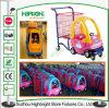 Kind-Spaziergänger-Supermarkt-Plastik scherzt Einkaufswagen-Laufkatze