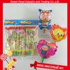 Karikatur Hinauftreiben von Aktienkursen ringsum harte Süßigkeit-Spielzeug