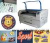 Etiqueta del cortador del laser, etiqueta tejida, etiqueta impresa, cortadora bordada de la etiqueta