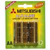 Сухие щелочные батареи LR6 торговой марки Мицубиси