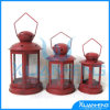 Metals rosso Lantern per Wedding Decoration