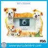 Feliz familia perros marco de fotos de papel