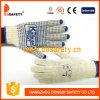 Le coton de décolorant de Ddsafety 2017/le PVC bleu de gant de Knit chaîne de caractères de polyester pointille un côté