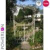 Arcos de jardín de hierro forjado con puerta