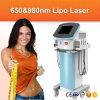 Laser dual de la longitud de onda 650nm 980nm Lipo del laser de Lipo