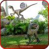 屋外の表示Velociraptorの実物大の恐竜の彫刻