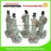 5 PCS / Set Statue de fée en céramique chinoise avec la fleur