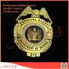 Distintivo della polizia di oro placcato e del polacco di livello