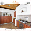 Armadio da cucina di legno del PVC di bianco Stream-Lined alla moda