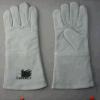 Перчатка заварки серой коровы Split кожаный (6504)