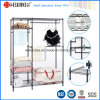 Epoxy Black Metal Bedroom Furniture Closet Wardrobe Rack with Oxford Cloths Couverture en tissu