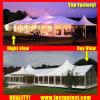 Прозрачный высокий пик смешанных палатку в рамке для производителей для 100 человек местный гость