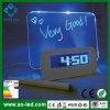 Nouvelle Arrival DEL Fluorescent table des messages Digital Alarm Clock Hub Calendar Night Light de 2015 avec le port USB