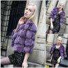 Design 2014新しいヨーロッパおよびアメリカのFox Fur Coats (Qy-C6)