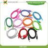 Cable de nylon colorido del alambre cruzado USB2.0 del OEM para el androide