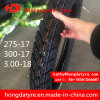 In het groot Grootte 300-17 300-18 van de Band van de Motorfiets van het Merk van de Fabriek Shandong Hoogste/Zonder binnenband van de Band van de Band van de Motorfiets