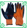Нитрил Cated Polyester Liner Gloves Work Glove