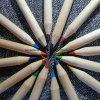 Reeks van het Potlood van de Kleur van 3.5 Jonge geitjes van de Bevordering van de Duim de Houten Gescherpte