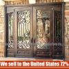 Commerce de gros en fer forgé de style simple et moderne en verre de la porte de sécurité