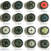 20mm Diameter Liquid Oil Button Compass (DC-20)
