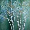 Peinture à l'huile d'arbre de paysage de nature (LH-101000)