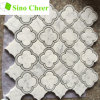 Carrara Waterjet 대리석 모자이크 타일 디자인 지면 패턴