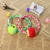 El animal doméstico de la cadena de la pelota de tenis de la calidad juega los juguetes de la diversión del perro del entrenamiento
