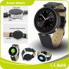 Relógio esperto de Bluetooth da cinta de couro de RoHS do Ce da fábrica do baixo preço