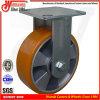 Laufkatze-Fußrolle PU der Handhochleistungs8 auf Aluminiumrad