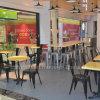 Comerciais de alta qualidade Mobiliário Jantar de Metal Preto (SP-CS305)