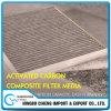 Tissu filtrant granulé non tissé de charbon actif de composés de constructeur