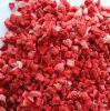 Dés Fd de fraises congelées// poudre Coupes