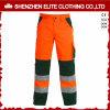 Pantaloni arancioni verdi del Workwear del poliestere del rilievo di ginocchio (ELTHVPI-22)