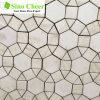 高品質の円形デザイン不規則な大理石のモザイク